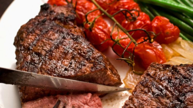 steak daging merah