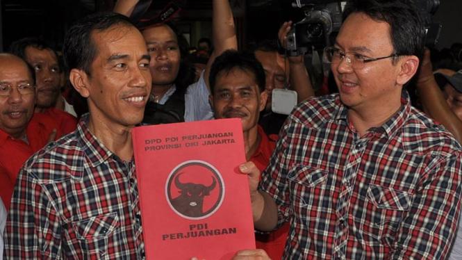 Jokowi dan Ahok Mendaftarkan Diri ke KPUD