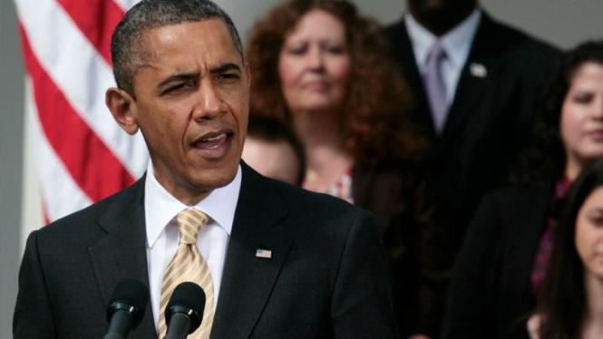 Obama berpidato di Gedung Putih