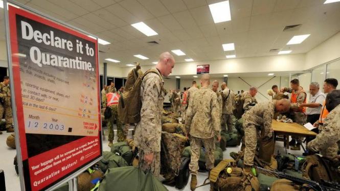 Kedatangan kloter pertama pasukan Marinir AS di Australia