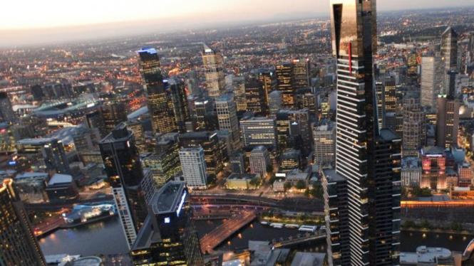 Foto pemandangan Kota Melbourne, Australia