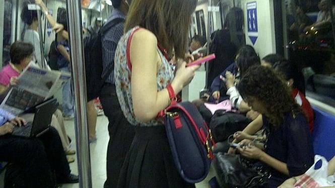 Pengguna gadget Singapura
