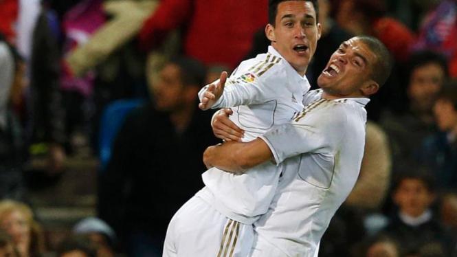 Jose Maria Callejon di Pertandingan Real Madrid VS Atletico Madrid