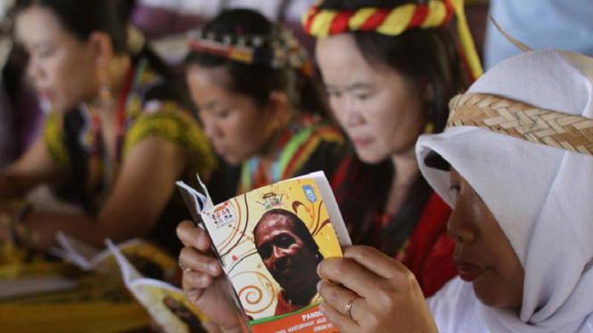Peserta Temu Nasional Perempuan Adat Nusantara