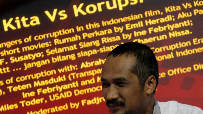Ketua KPK Abraham Samad Saat Diskusi Film Kita Vs Korupsi