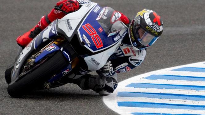 Pembalap Yamaha, Jorge Lorenzo, di Sirkuit Jerez Spanyol