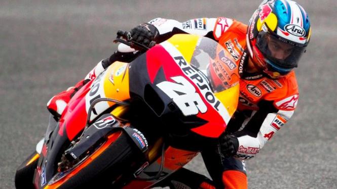 Dani Pedrosa di sirkuit Jerez
