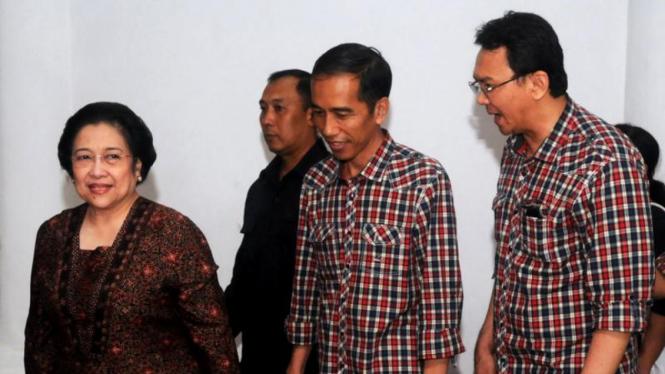 Jokowi-Ahok bertemu Megawati.