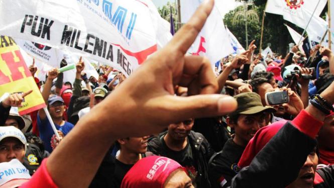 """Demo Buruh """"May Day"""" di Jakarta"""