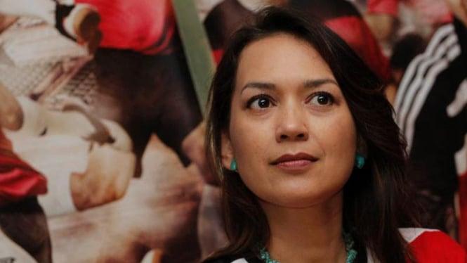Ira Wibowo Saat Press Screening Film Hattrick