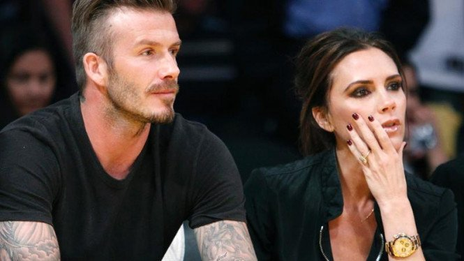 Kemesraan David Beckham dan Victoria