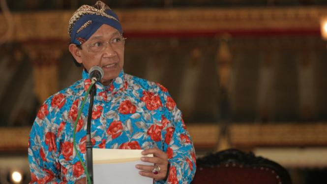 Sri Sultan Hamengku Bawono X.