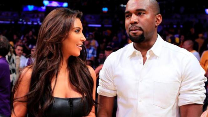 Kim Kardashian dan Kanye West - Reuters