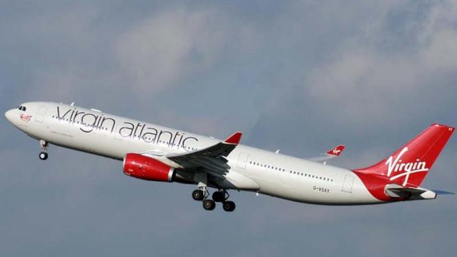 Virgin Atlantic Airbus A330-300 sedang mengudara.