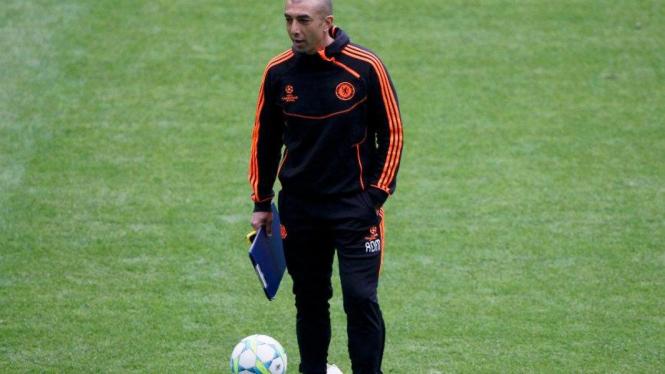 Pelatih Chelsea, Roberto Di Matteo, jelang final Liga Champions