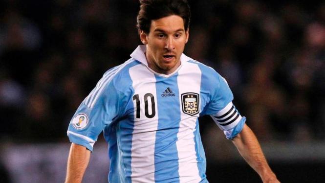 Lionel Messi di timnas Argentina