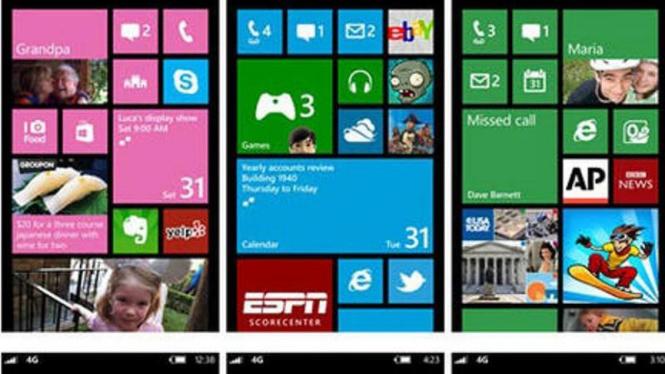 User Interface di Windows 8