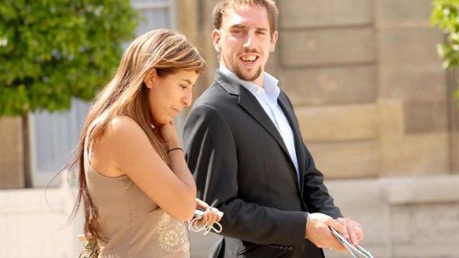 Franck Ribery dan istri, Wahiba Belhami