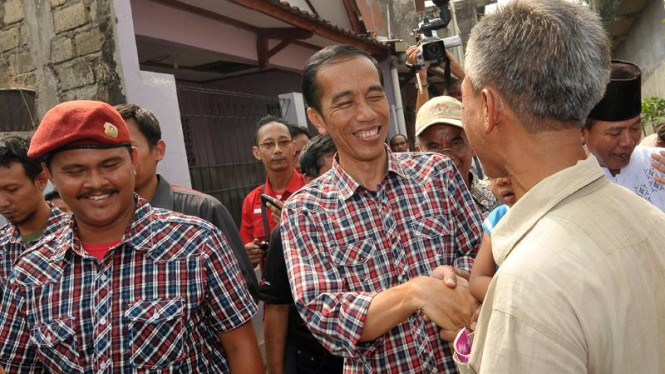 Jokowi Kampanye di Lubang Buaya
