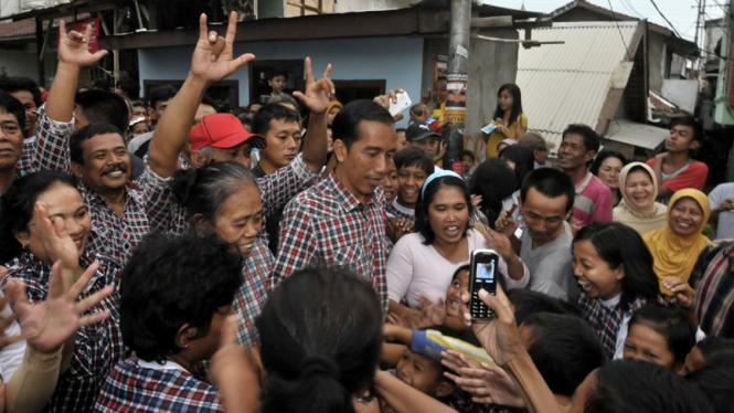 Kunjungan Jokowi ke Kebon Melati