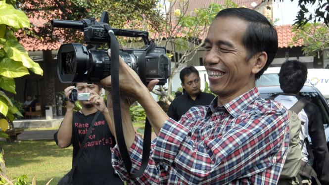 Jokowi Silaturahmi dengan Wartawan