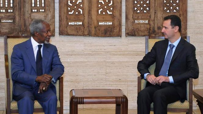 Kofi Annan bertemu dengan Bashar al-Assad