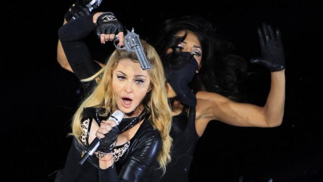 Madonna Tampil di Belgia