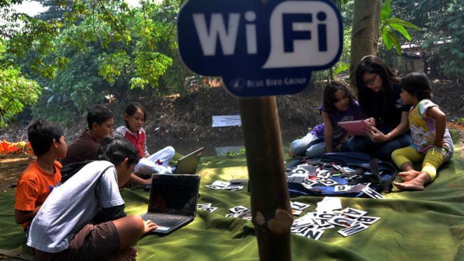 Free WiFi di Kawasan Ciliwung