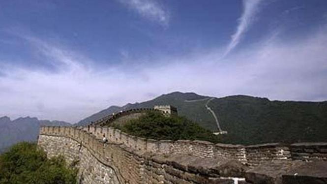 Tembok Besar China.