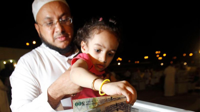 Bocah Saudi menyumbang untuk rakyat Suriah