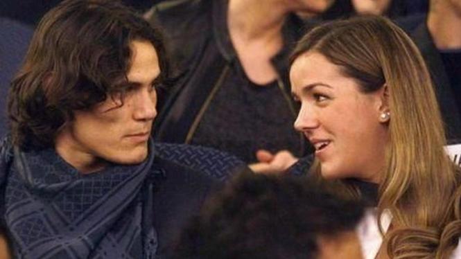 Edinson Cavani dan istrinya Soledad