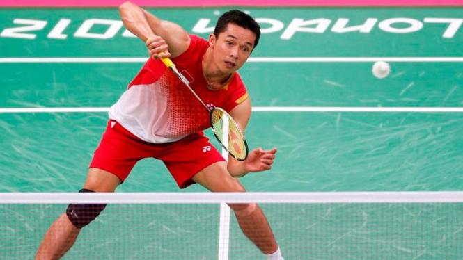Pebulutangkis Indonesia, Taufik Hidayat, di Olimpiade 2012