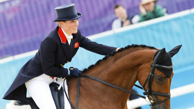 Zara Phillips dengan kudanya High Kingdom