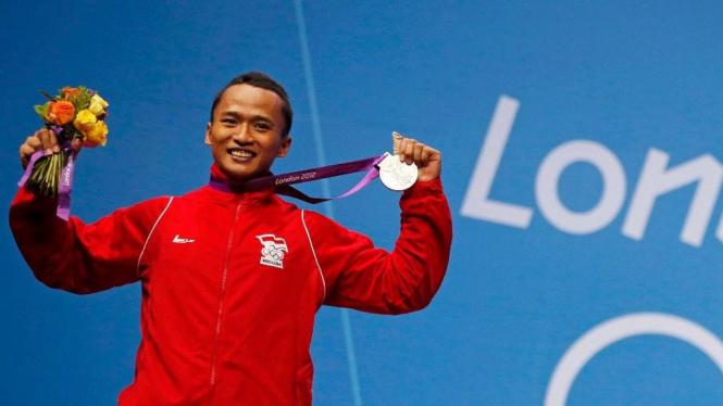Lifter Indonesia, Triyatno, merebut medali perak