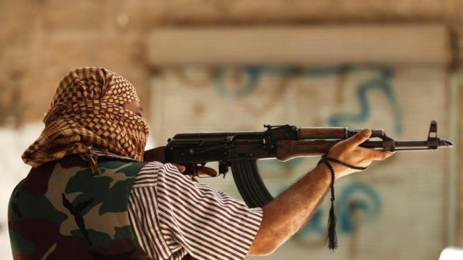 Tentara Pembebasan Suriah di kota Aleppo.