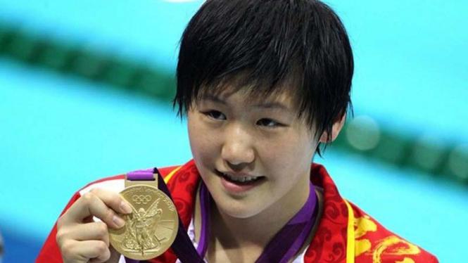 Perenang China, Ye Shiwen meraih medali emas di Olimpiade 2012