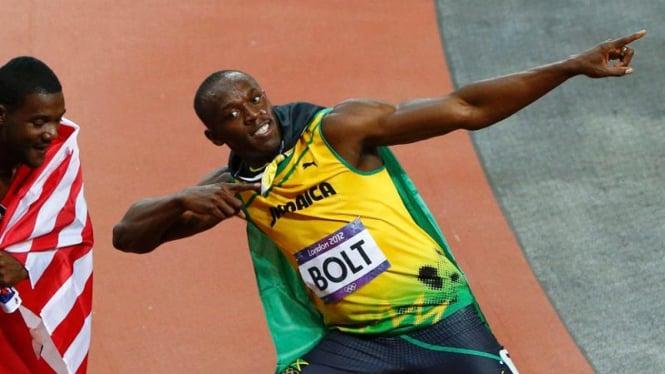 Usain Bolt Pertahankan Emas