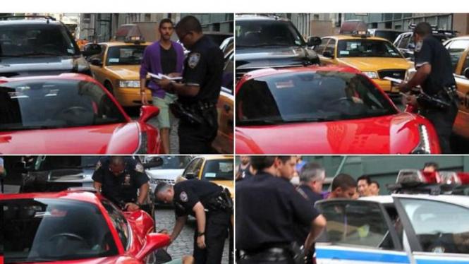Tolak ditilang pengendara Ferrari lindas kaki polisi