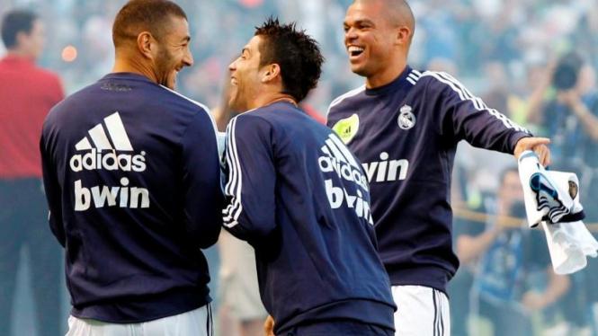 Pepe, bersama Karim Benzema & Cristiano Ronaldo