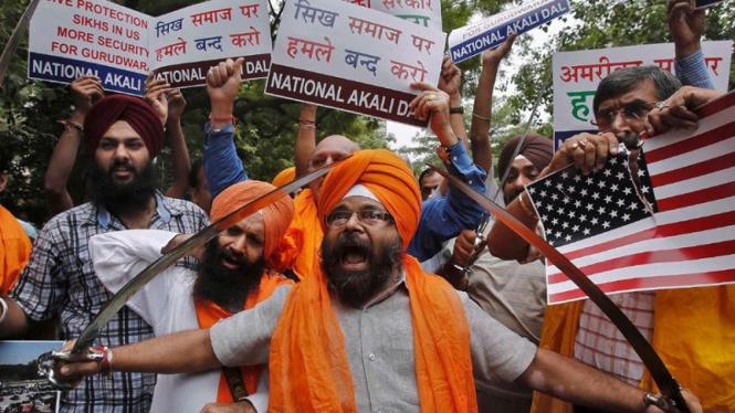 Demonstrasi Sikh di India