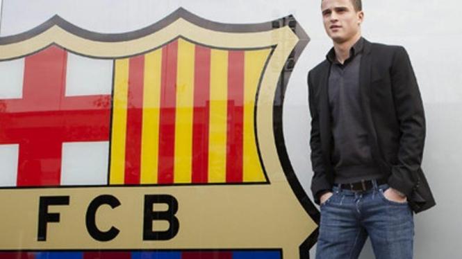 Pemain Barcelona, Ibrahim Afellay.