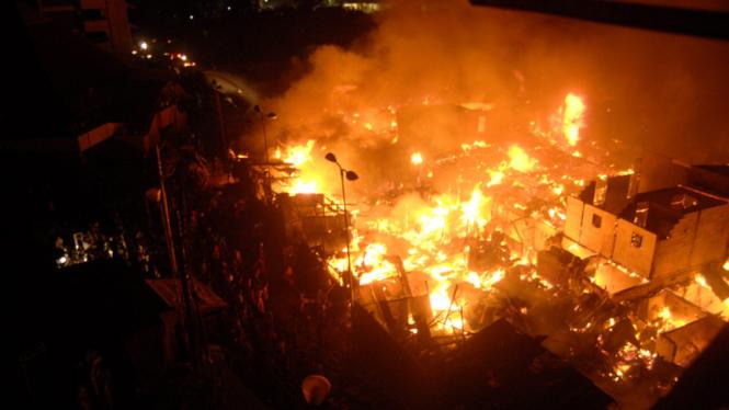 kebakaran karet tengsin