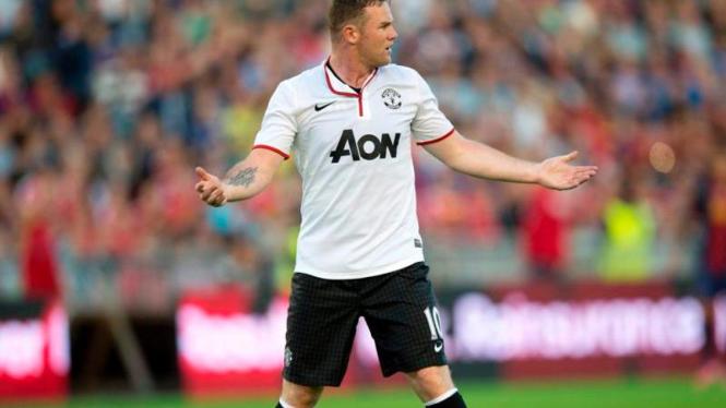 Penyerang Manchester United, Wayne Rooney