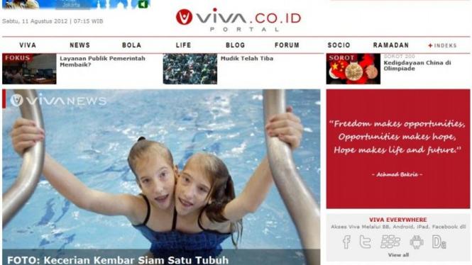 Viva.co.id tampilan wajah baru