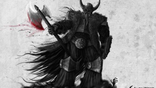 Ilustrasi bangsa Viking.