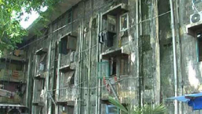 Rumah susun Tambora rusak parah