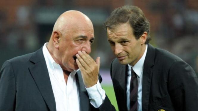 Adriano Galliani (kiri) dengan Massimiliano Allegri