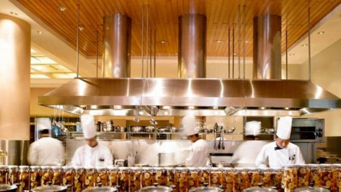 Open kitchen di Resto Sailendra Hotel JW Marriott, Jakarta