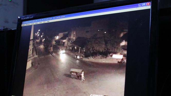 CCTV di lokasi penembakan polisi di Solo
