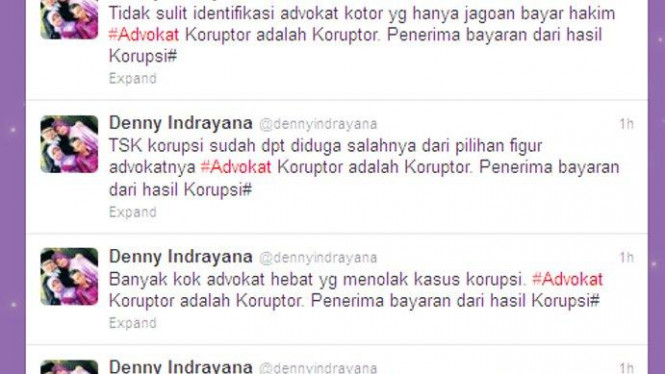 Tweet kontroversial Denny Indrayana mengenai advokat